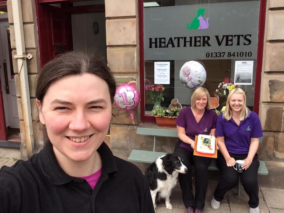 Heather Vets 1st Birthday